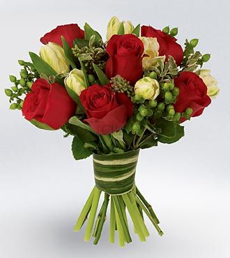 Bouquet Moderne Roses rouges