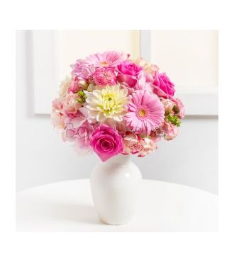 BOUQUET HARMONIE EN ROSE