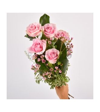 BOUQUET DE ROSES ROSE PALE