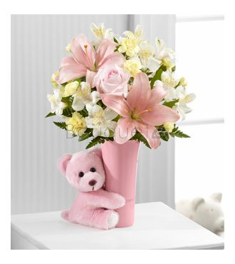 Bouquet Calins Bebe fille