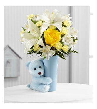 Bouquet Calins Bebe garcon