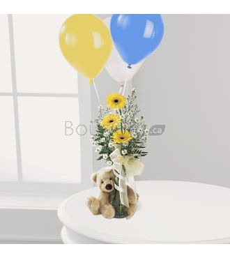 bouquet Ourson Bienvenue